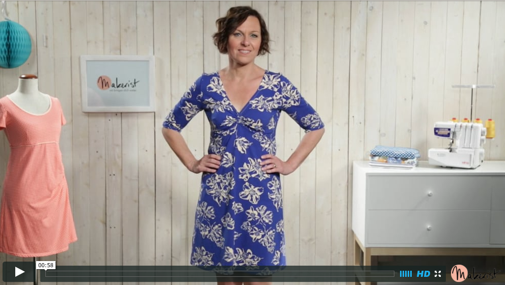 makerist 1 kleid 4 styles der video kurs rosa p. Black Bedroom Furniture Sets. Home Design Ideas