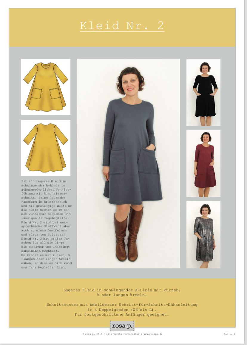 Schnittmuster kleid in a linie – Mode Website Foto Blog 2018