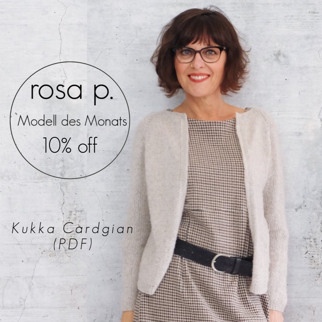 Der Kukka Cardigan Das Rosa P Modell Des Monats Rosa P